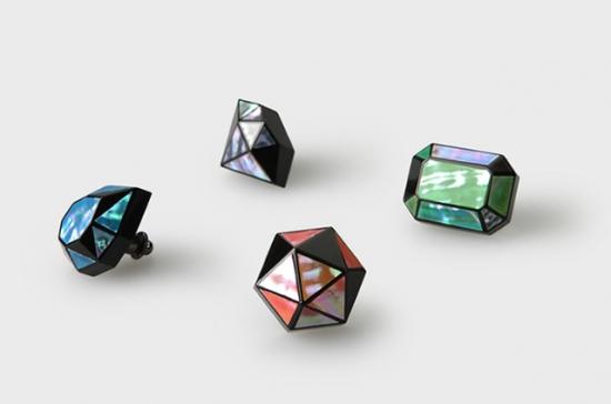 ジュエル螺鈿ブローチ Jewel -3D RADEN COLLECTION-
