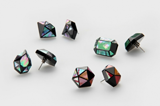 ジュエル螺鈿ピアス Jewel -3D RADEN COLLECTION-